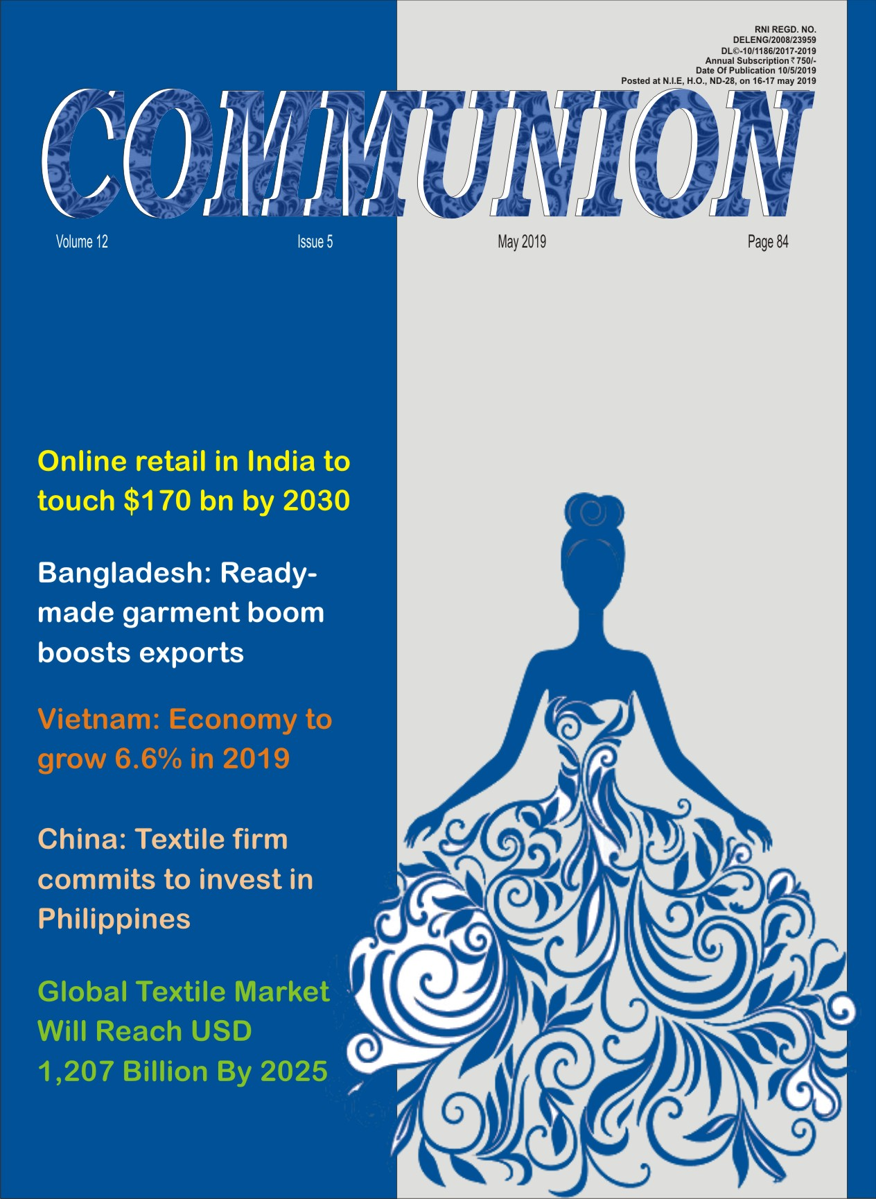 A LEADING PUBLICATION FOR GARMENT AND TEXTILE INDUSTRY