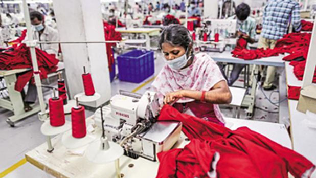 Gujarat accounting for 12 percent of the apparels exported from India